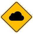 Cloud road sign vector