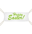 Textile banner with happy easter text vector