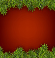 Fir red christmas frame vector