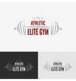 Athletic gym logo concept vector