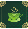 Green tea cup vector