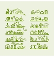 Shelves with ecology icons for yuor design vector