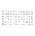Web line icon set universal thin icons vector