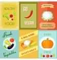 Healthy food mini poster set vector
