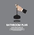 Bathroom plug with chain vector