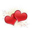 Valentine background wiht two hearts vector