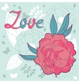 Love card with peonies vector
