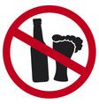 No alcohol sign vector