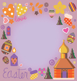 Easter card with a set of design elements vector