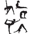 Yoga women icons vector