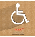 Disabled flat modern web design on a flat vector