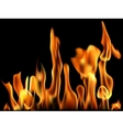 Fire flame banner vector
