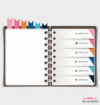 Modern design template of spiral notebook with vector