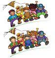 Kids different races vector