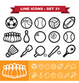 Line icons set 31 vector