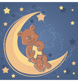 Bear sweet dreams card vector