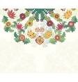 Decorative floral ornament invitation card vector