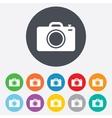 Photo camera sign icon photo symbol vector
