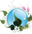 Abstract flowers and leaves vector