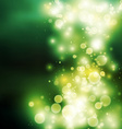 Green bokeh light background vector
