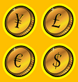 Currency golden coins vector