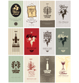 Set of wine vector