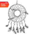 Native american dream catcher with feathers vector