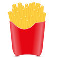 Fries potato isolated on white background vector