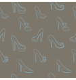 Seamless background with shoes in sketch style vector