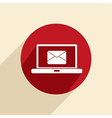 Laptop with letter envelope vector