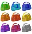 Leather bag set vector