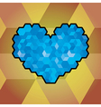 Abstract heart symbol created from cubes vector