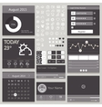 Set elements used for user interface black vector