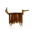 Funny dog with long wool for your design vector