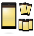 Note phone vector