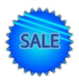 Big blue button labeled sale vector