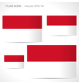 Indonesia flag template vector