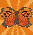 Butterfly face vector