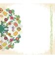 Decorative floral ornament invitation card vector