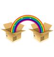 Rainbow from box vector