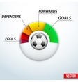 Concept statistics about the game of soccer vector