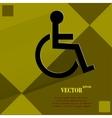 Disabled flat modern web design on a flat vector
