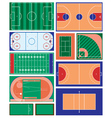 Sport fields vector