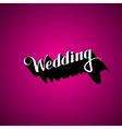 Handwritten wedding retro label vector