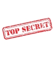 Top secret rubber stamp vector