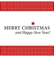 Christmas and new year card with white ornament vector