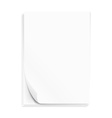 Empty paper three sheets vector