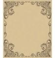Template frame design for card vector