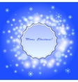 Abstract christmas background with frame vector