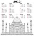 Taj mahal 2013 calendar vector